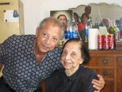 My father and grandmother at her 95th birthday party