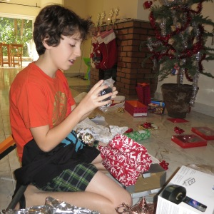 T opening presents